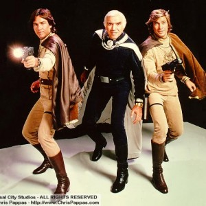 Apolloa, Adama, and Starbuck