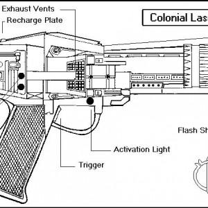 Schematics - Colonial Laser Pistol