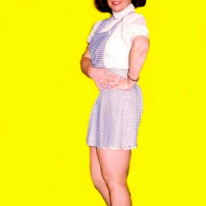 Verna, posing for Dorothy decal