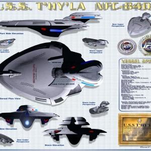 U.S.S T'HY'LA  NFC-8406